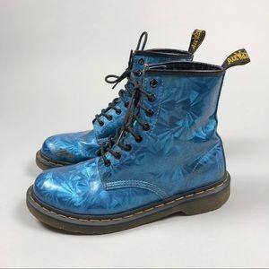 Dr Martens Sapphire Blue Holographic Boots